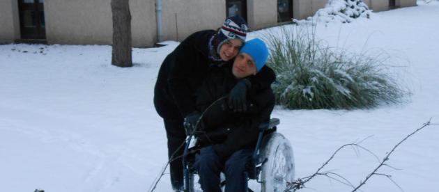 Griet et Sébastien dans la neige